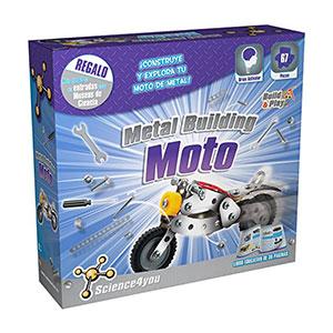 Science4you-Metal Building Moto, Juguete Educativo y científico