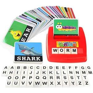 F-blue Palabras Hijos de Aprendizaje de los niños Entretenimiento Inglés Carta Sight Tarjetas Fonética Juegos educativos para Edades 0-14