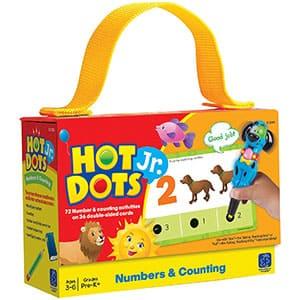 Learning Resources- Tarjetas Hot Dots Jr. para Aprender los números y a Contar