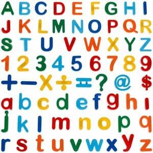 Anpro 90pcs Letras y números magnéticos