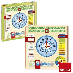 Goula - Reloj y Calendario en francés