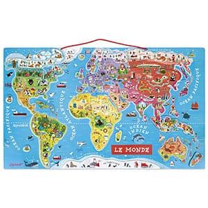 Janod Puzzle magnético del Mundo (Versión francés)