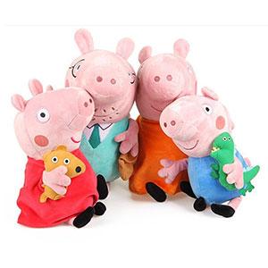 Peppa Pig Conjunto de Cuatro Miembros de la Familia Cute Plush
